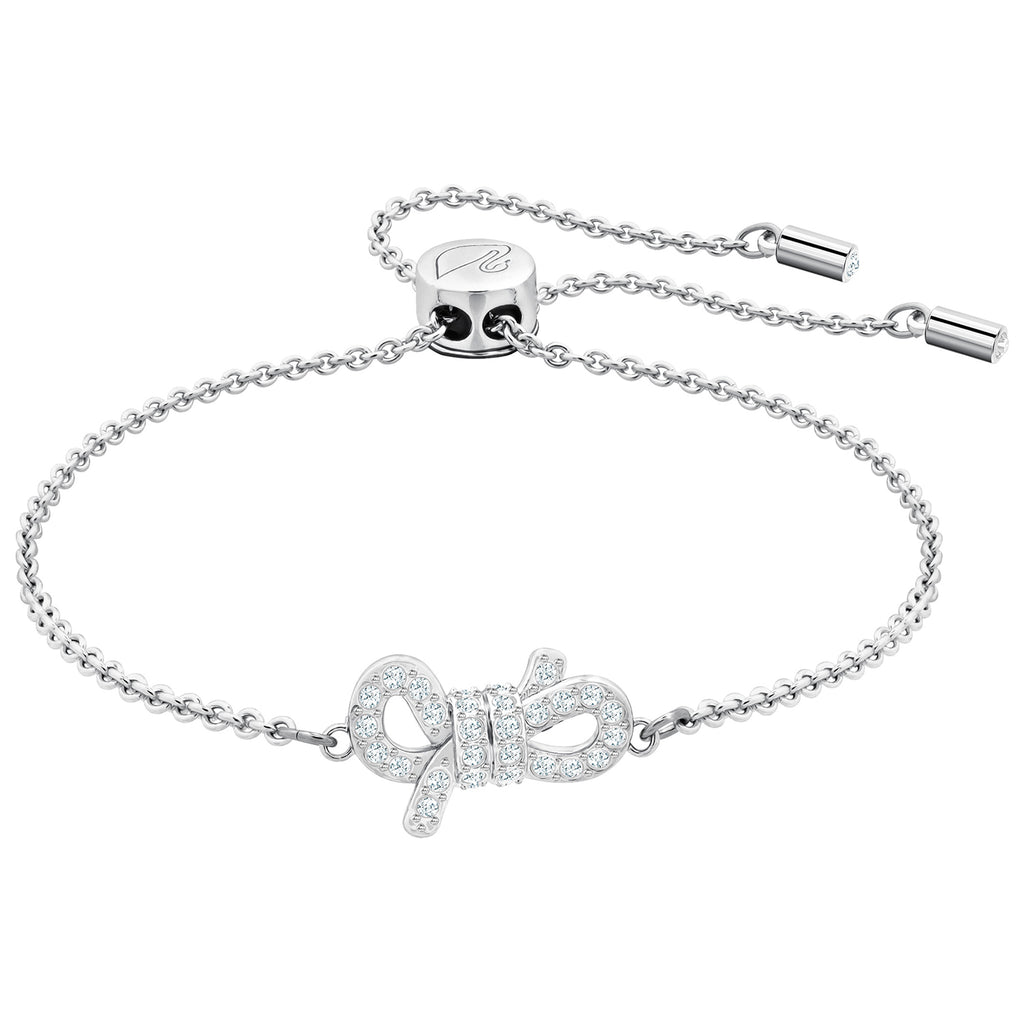 Swarovski Lifelong Bow Bracelet - White - Rhodium Plating