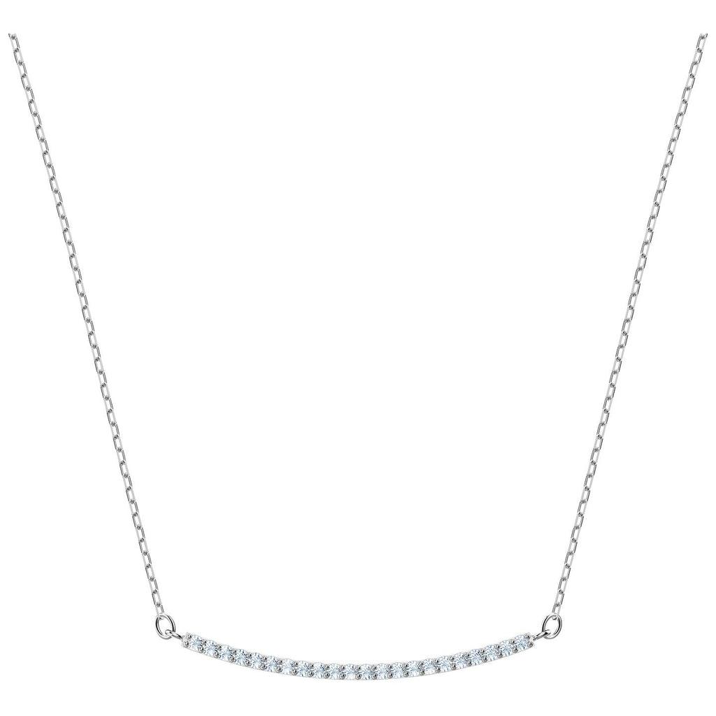 Swarovski Only Necklace - White - Rhodium Plating