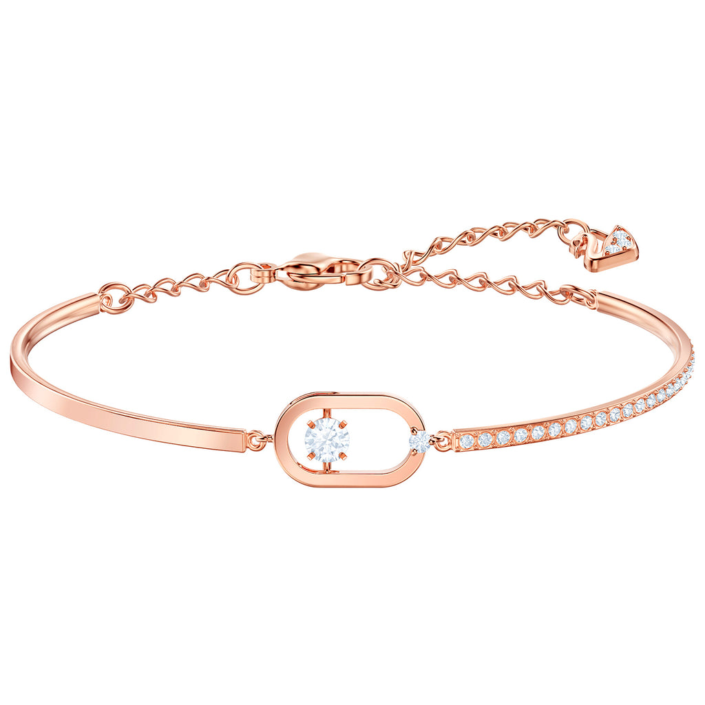 Swarovski North Bracelet - White - Rose Gold Plating