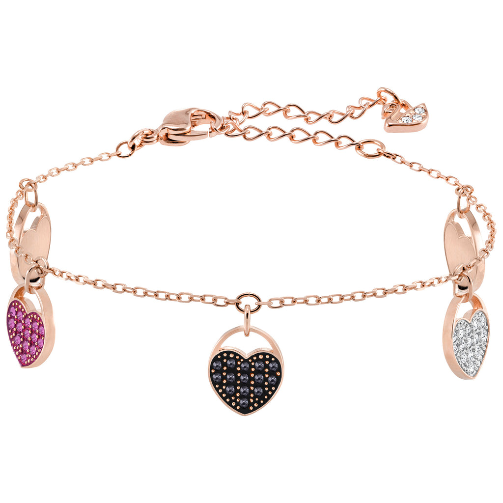 Swarovski Ginger Bracelet - Multi-colored - Rose Gold Plating