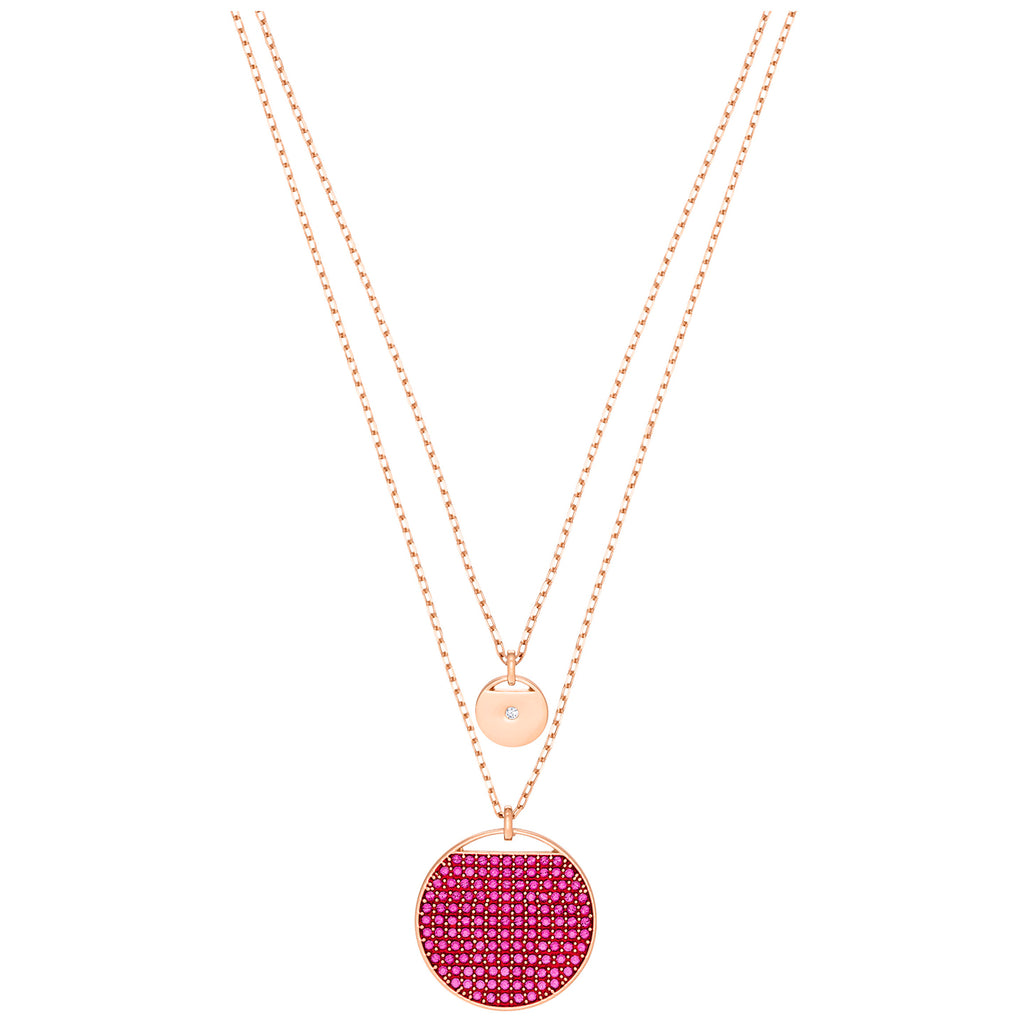 Swarovski Ginger Pendant - Pink - Rose Gold Plating