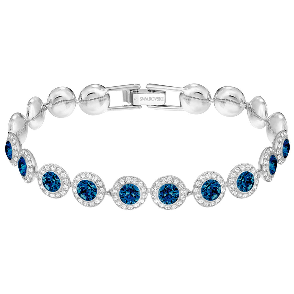 Swarovski Angelic Bracelet - Blue - Rhodium Plating