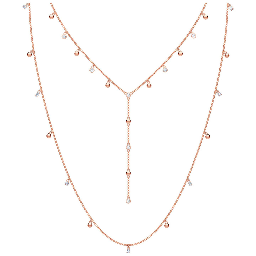 Swarovski Penelope Cruz Moonsun Necklace - Long - White - Rose-gold Plated -