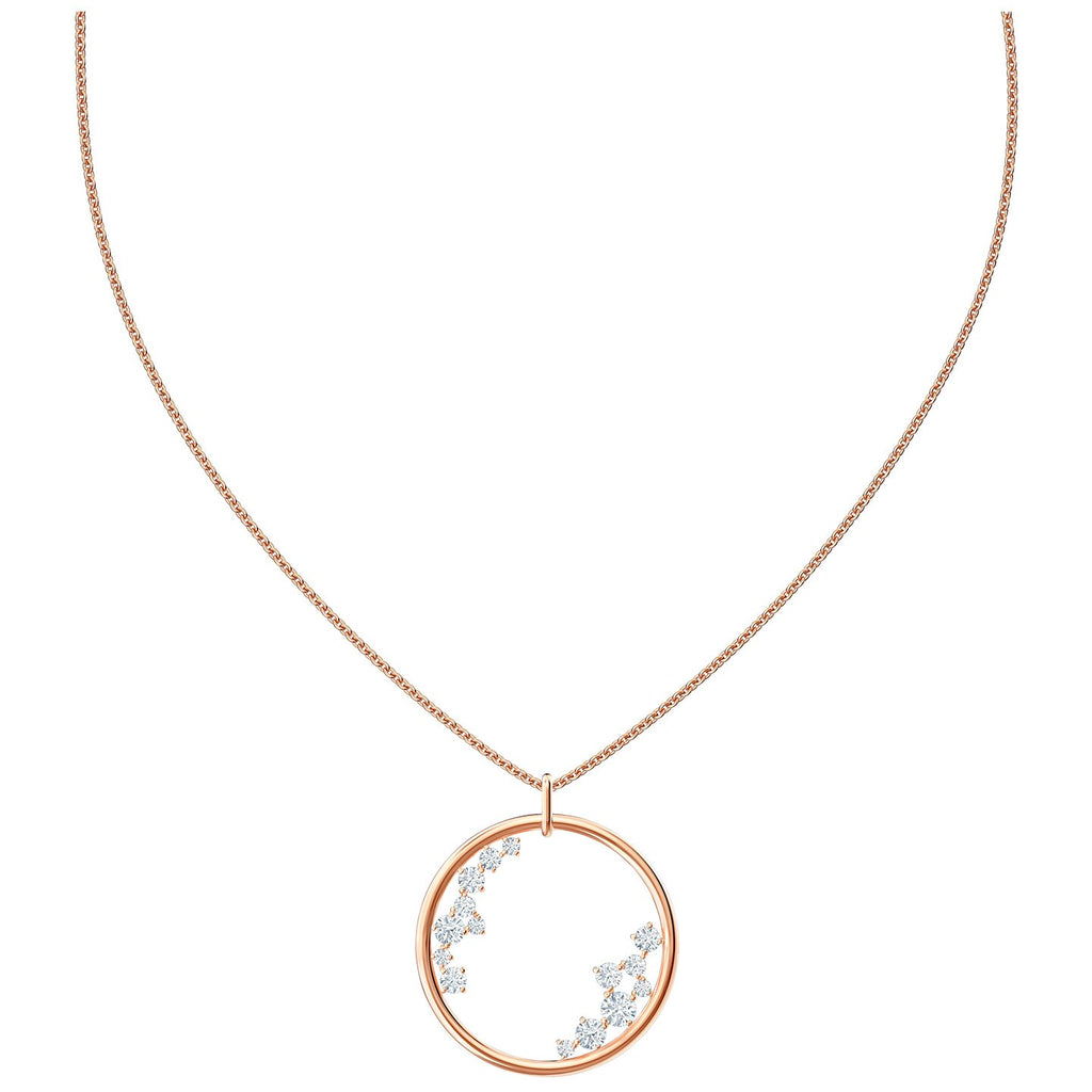 Swarovski North Pendant - White - Rose-gold Tone -