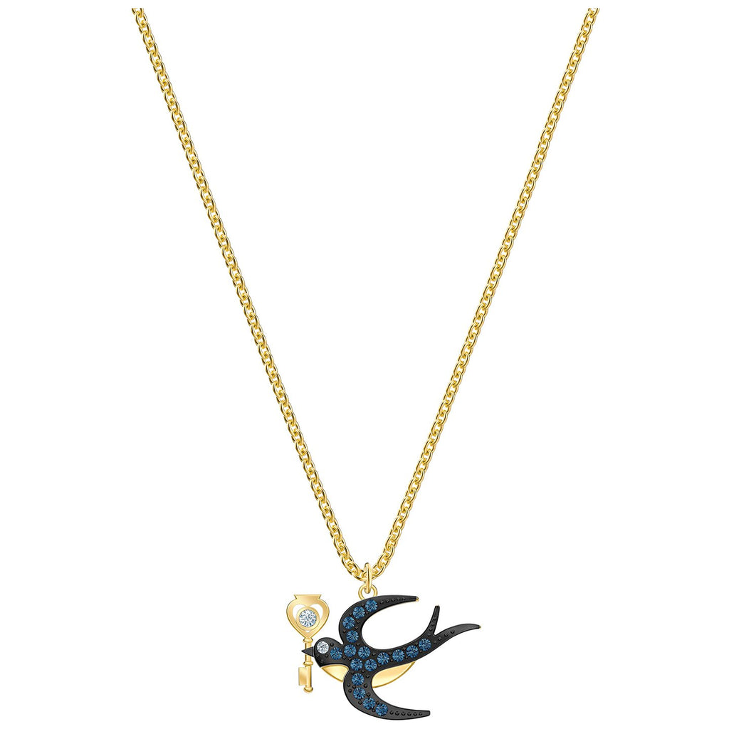 Swarovski Tarot Magic Necklace - Blue - Gold-tone Plated