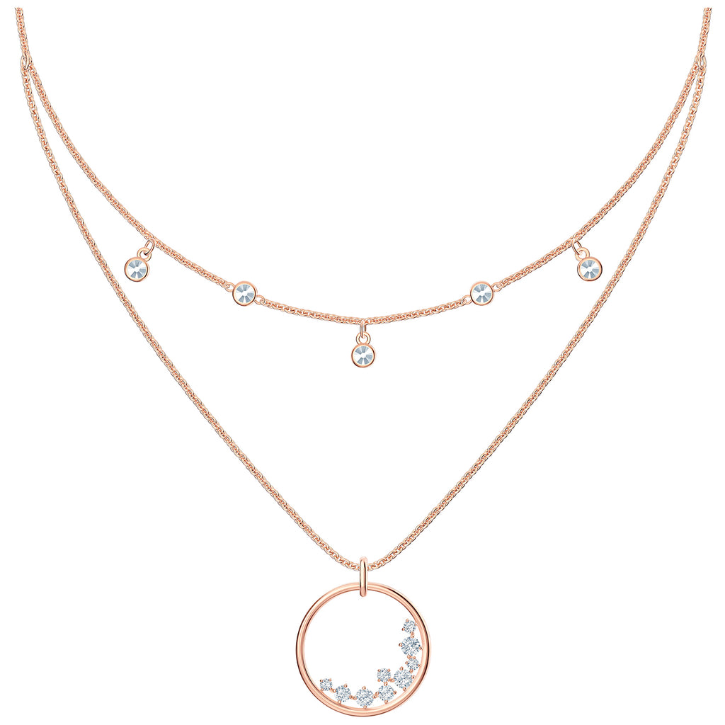 Swarovski North Necklace - White - Rose-gold Tone Plated -