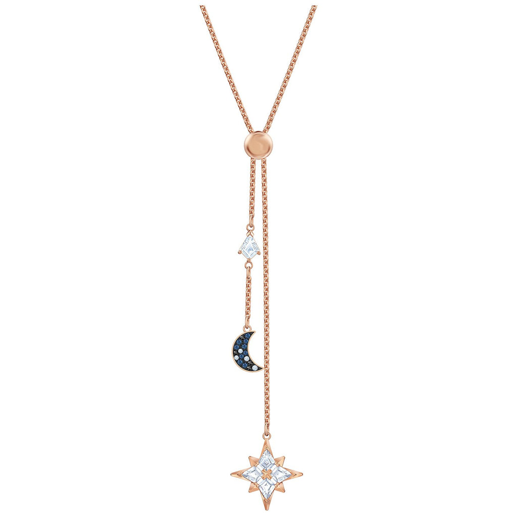 Swarovski Symbolic Y Necklace - Multi-colored - Rose-gold Tone Plated -
