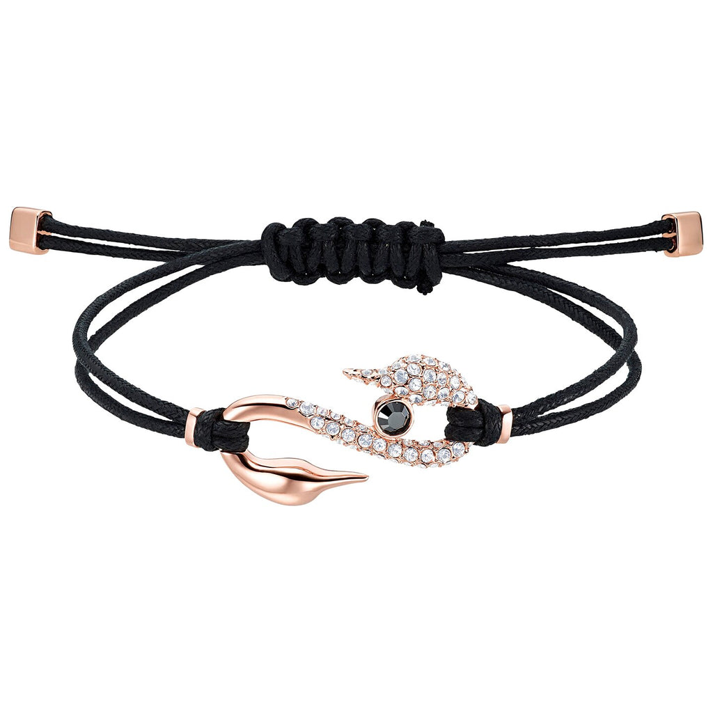 Swarovski Power Collection Hook Bracelet - Black - Rose-gold Tone Plated