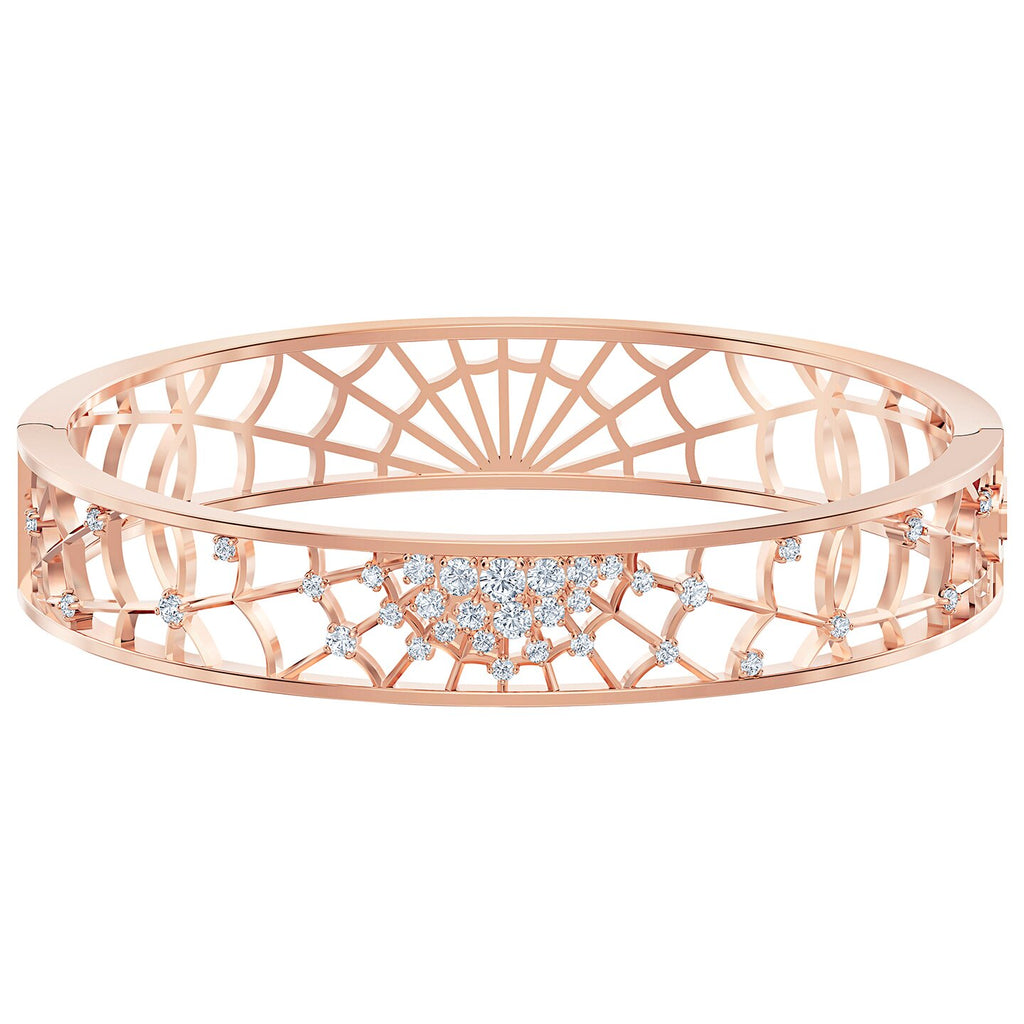 Swarovski Precisely Cuff - White - Rose-gold Tone Plated -