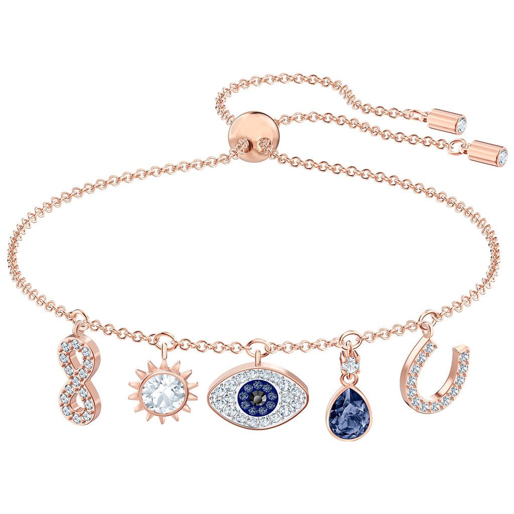 Swarovski Symbolic Bracelet - Multi-colored - Rose-gold Tone Plated -
