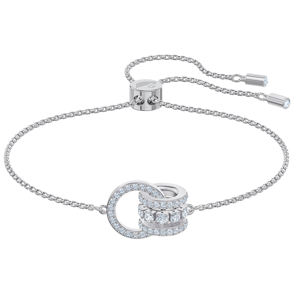 Swarovski Further Bracelet - White - Rhodium Plated -