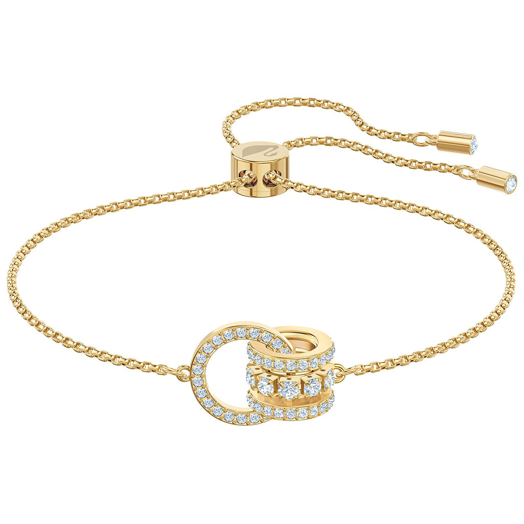Swarovski Further Bracelet - White - Gold-tone Plated -