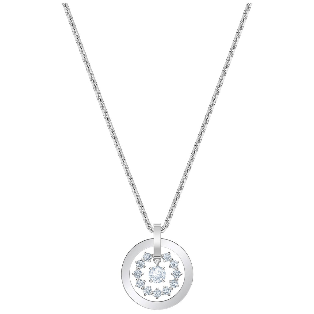 Swarovski Further Necklace - White - Rhodium Plated -