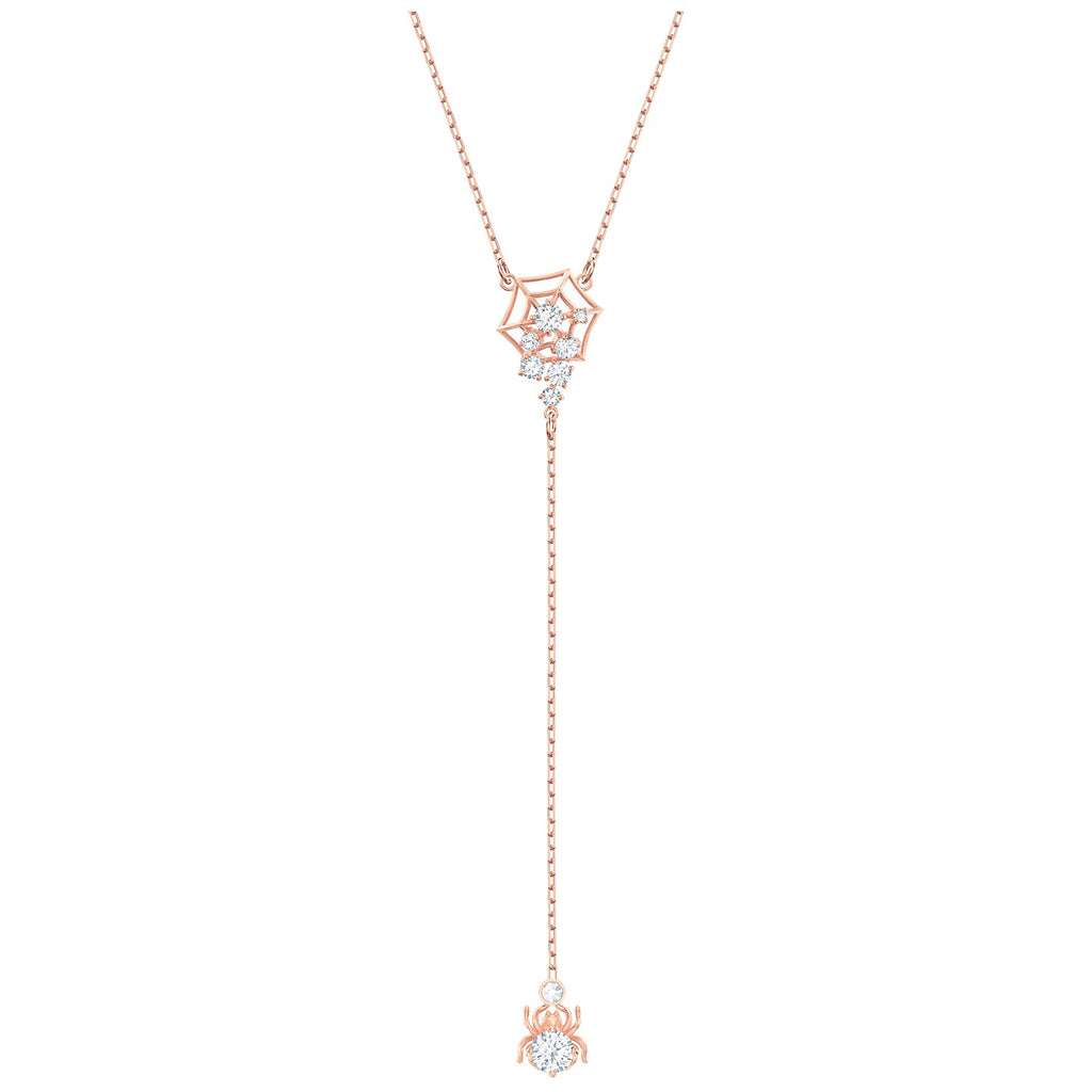 Swarovski Precisely Y Necklace - White - Rose-gold Tone Plated -
