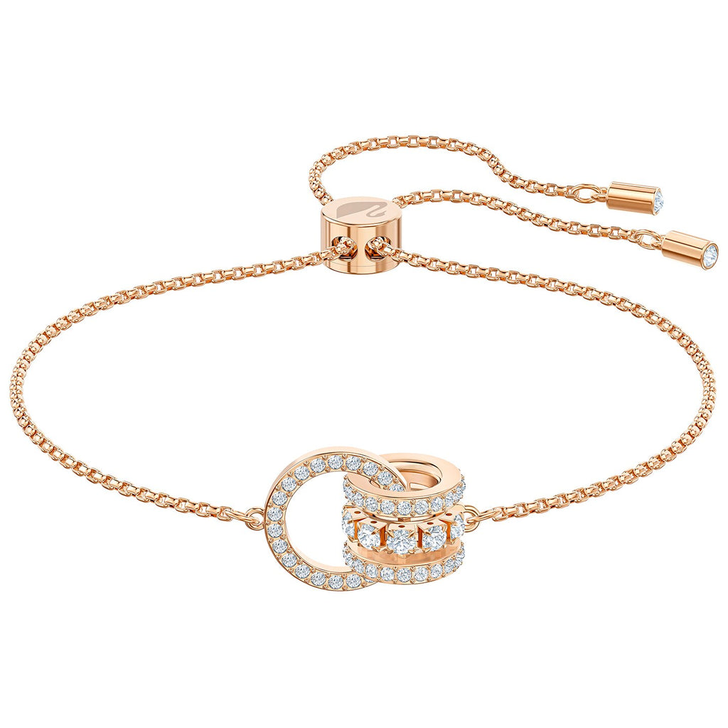 Swarovski Further Bracelet - White - Rose-gold Tone Plated -