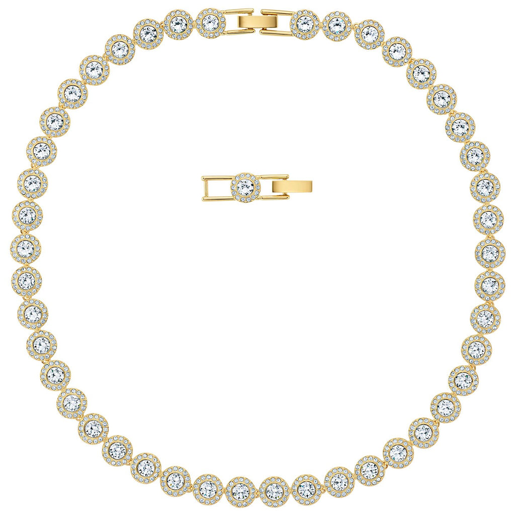 Swarovski Angelic Necklace - White - Gold-tone Plated -