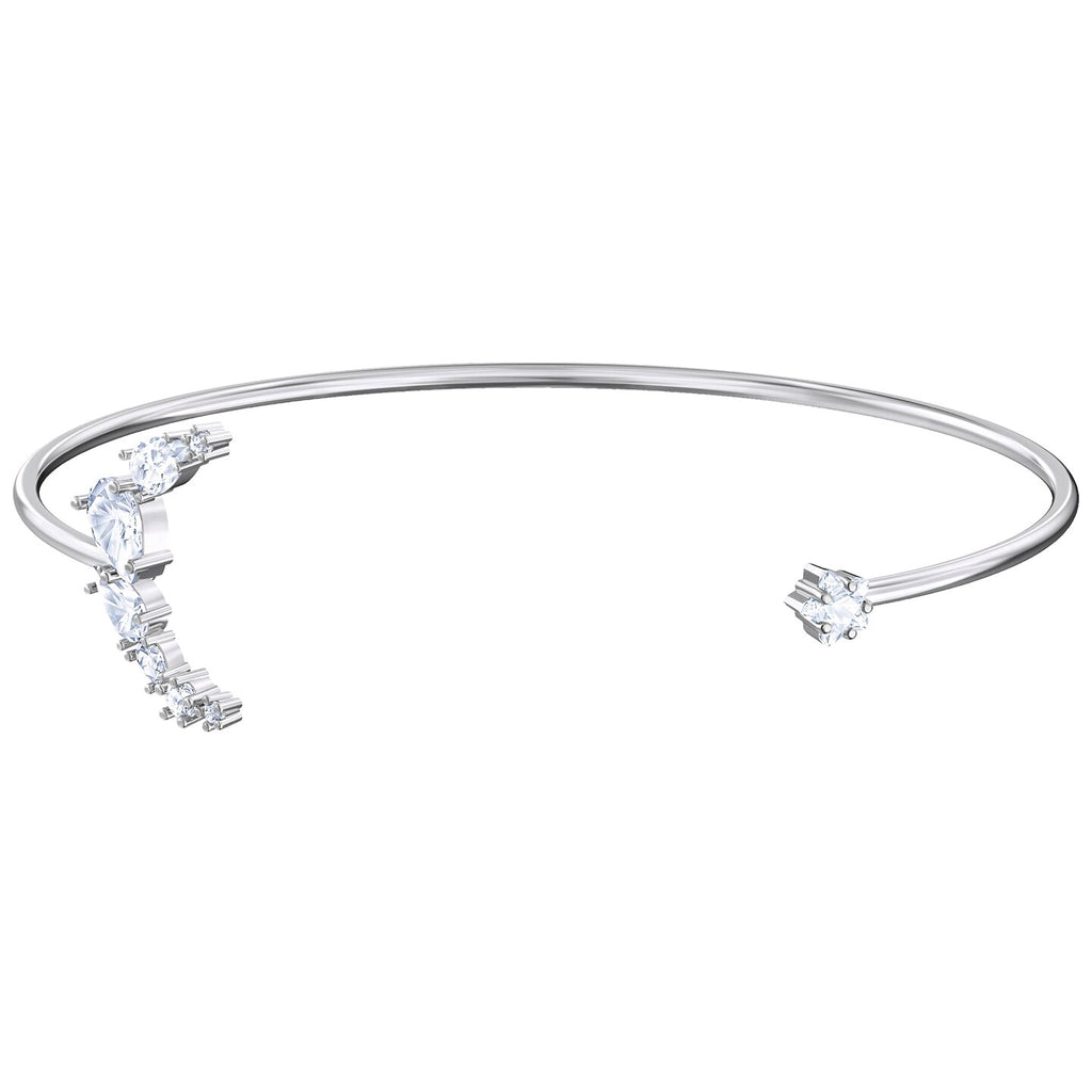 Swarovski Penelope Cruz Moonsun Cuff - White - Rhodium Plated
