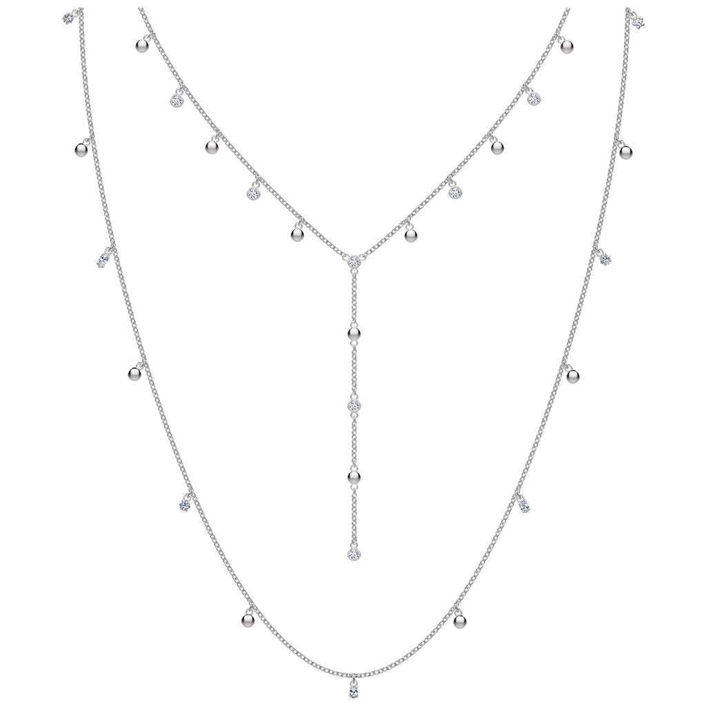 Swarovski Penelope Cruz Moonsun Necklace - Long - White - Rhodium Plated