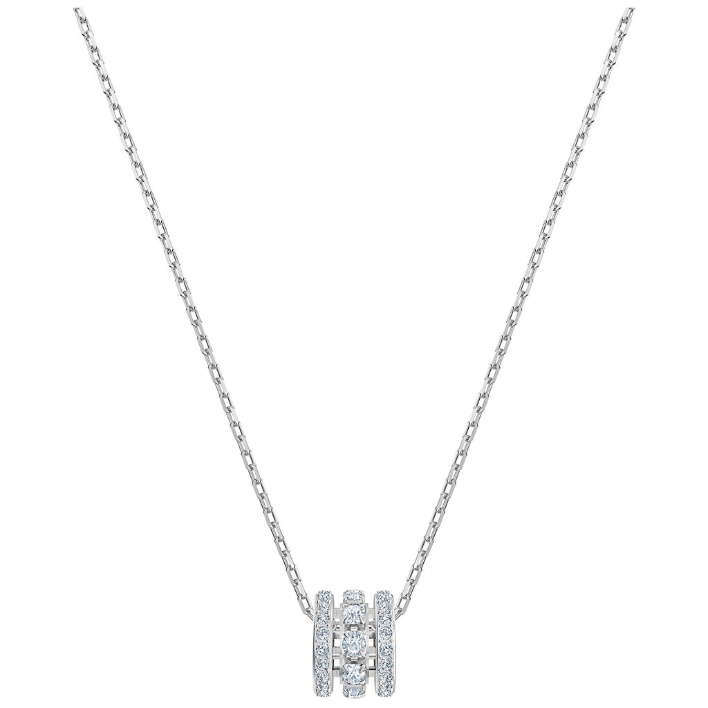 Swarovski Further Pendant - White - Rhodium Plated -