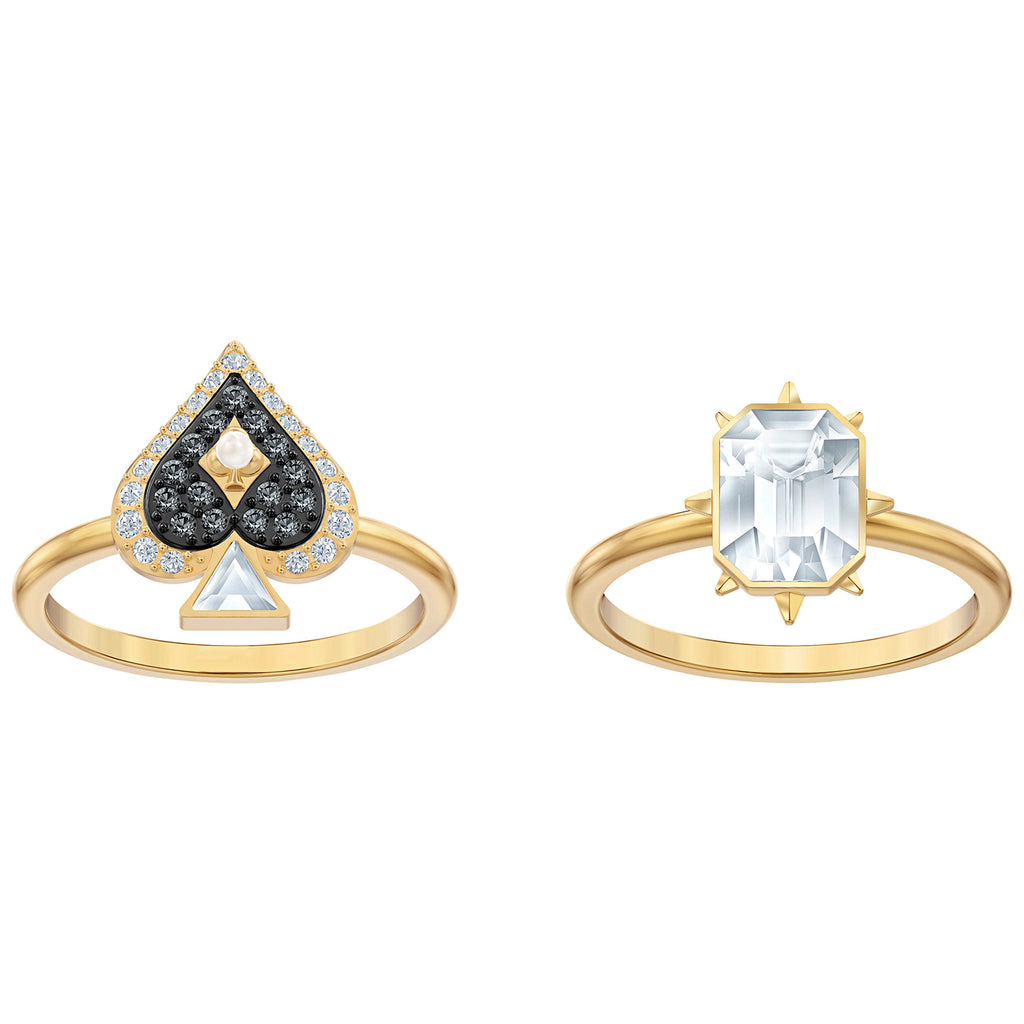 Swarovski Tarot Magic Ring Set - Multi-colored - Gold-tone Plated -