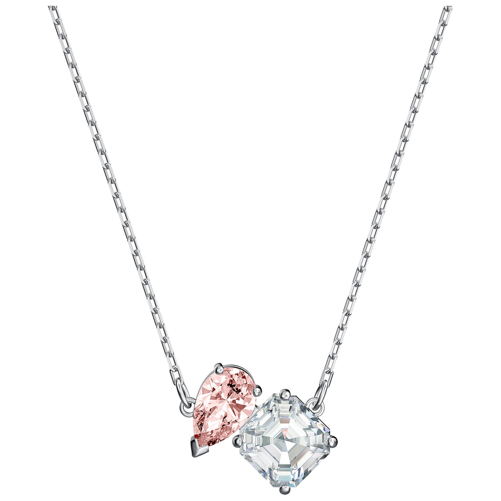 Swarovski Attract Soul Necklace - Pink - Rhodium Plated