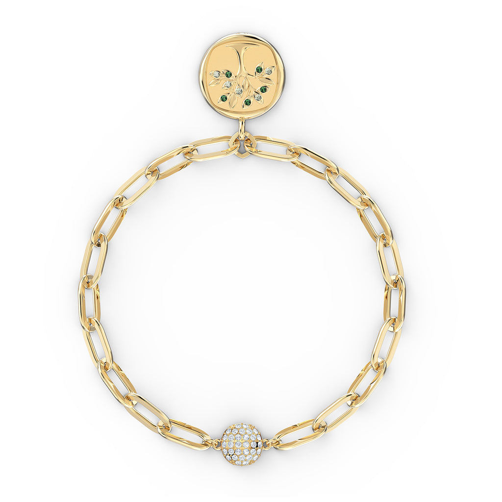 Swarovski The Elements Tree Bracelet - Green - Gold-Tone Plated