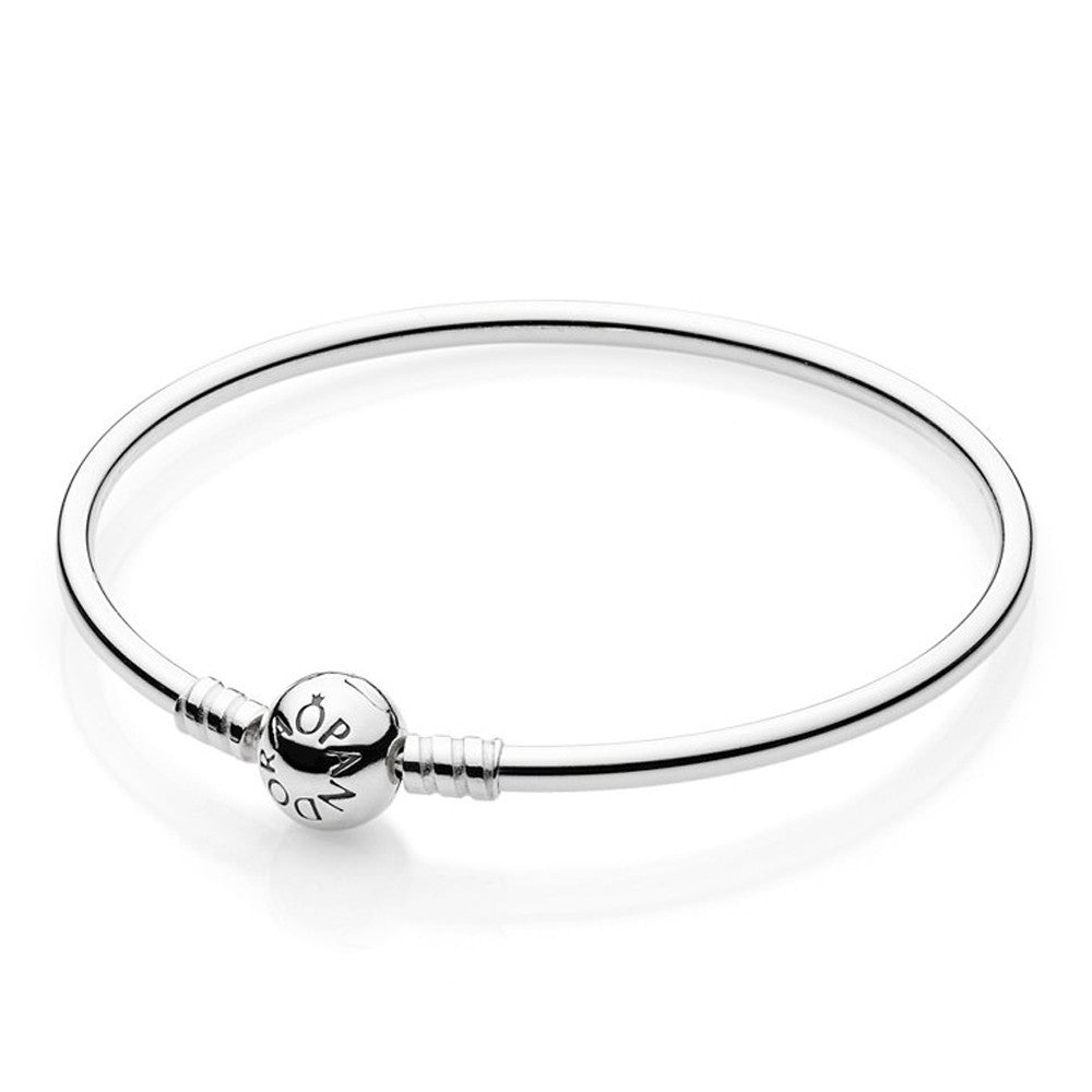 Pandora Moments Sterling Silver Charm Bangle 21CM -