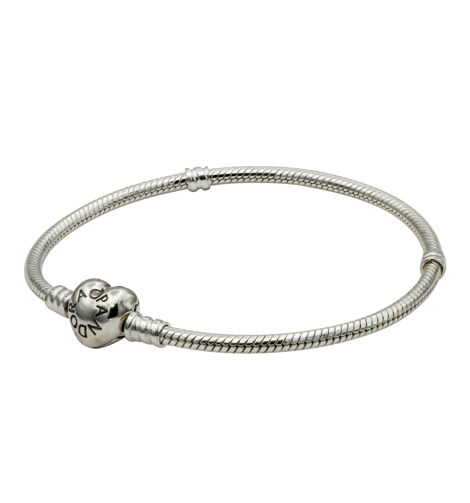 Pandora Moments Silver Bracelet with Heart Clasp 19CM - 590719-19