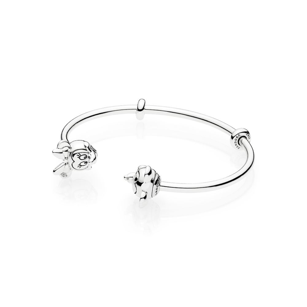 PANDORA Disney Mickey & Minnie Open Bangle Bracelet