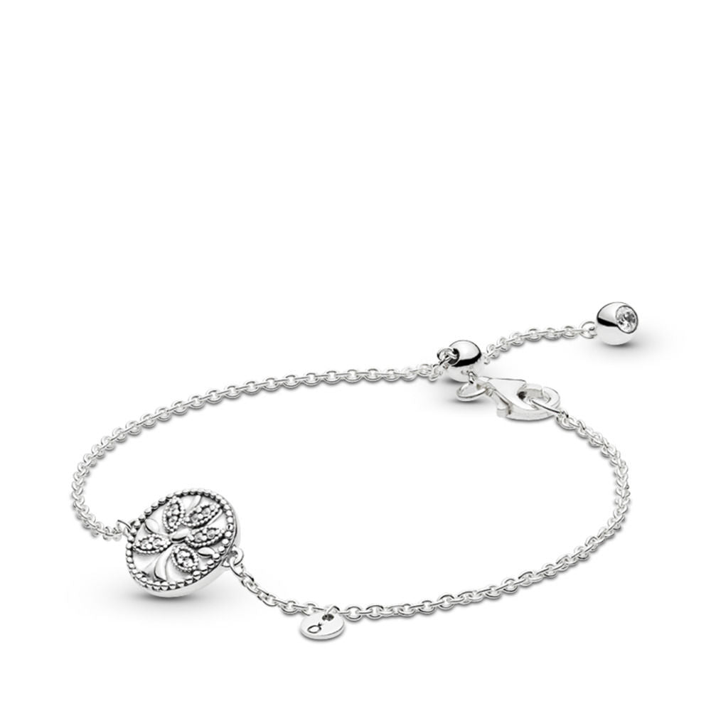 PANDORA Tree of Life 925 Sterling Silver Bracelet - Size: 7.9 inches -