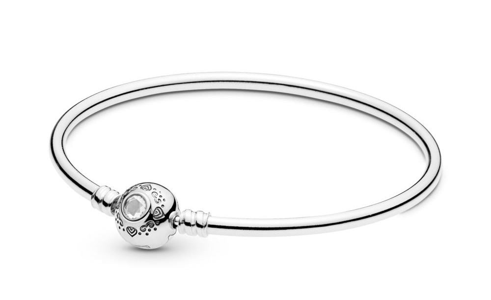 PANDORA Disney Princess Jasmine & Aladdin Bangle Size 19
