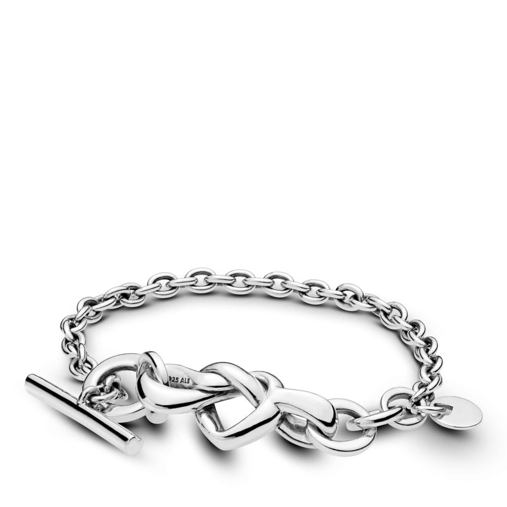 PANDORA Knotted Heart Bracelet - 6.3 inches -
