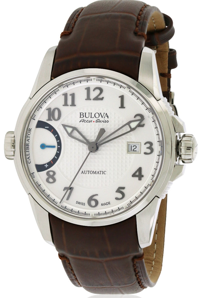 Bulova AccuSwiss Calibrator Leather Automatic Mens Watch