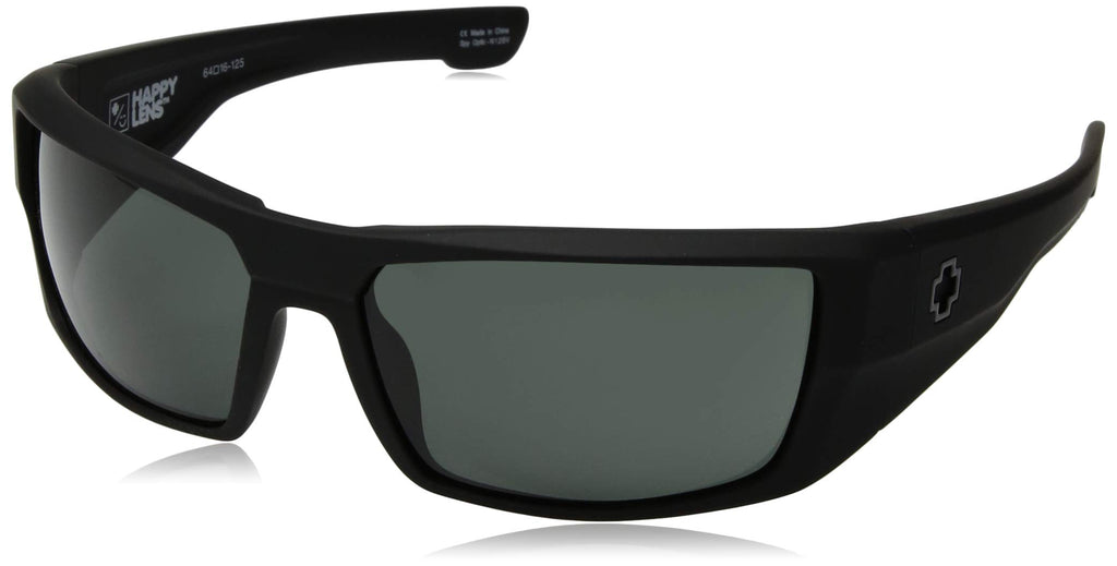 Spy Optic Dirk Wrap Sunglasses - Soft Matte Black/Happy Gray/Green - 64 mm