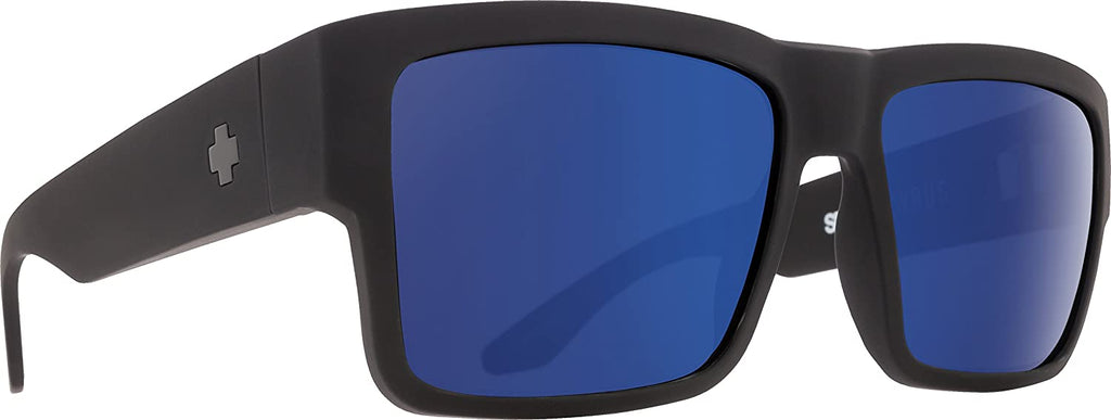 Spy Optic Cyrus Square Sunglasses - Soft Matte Black/Bronze With Light Blue Spectra - 58 mm