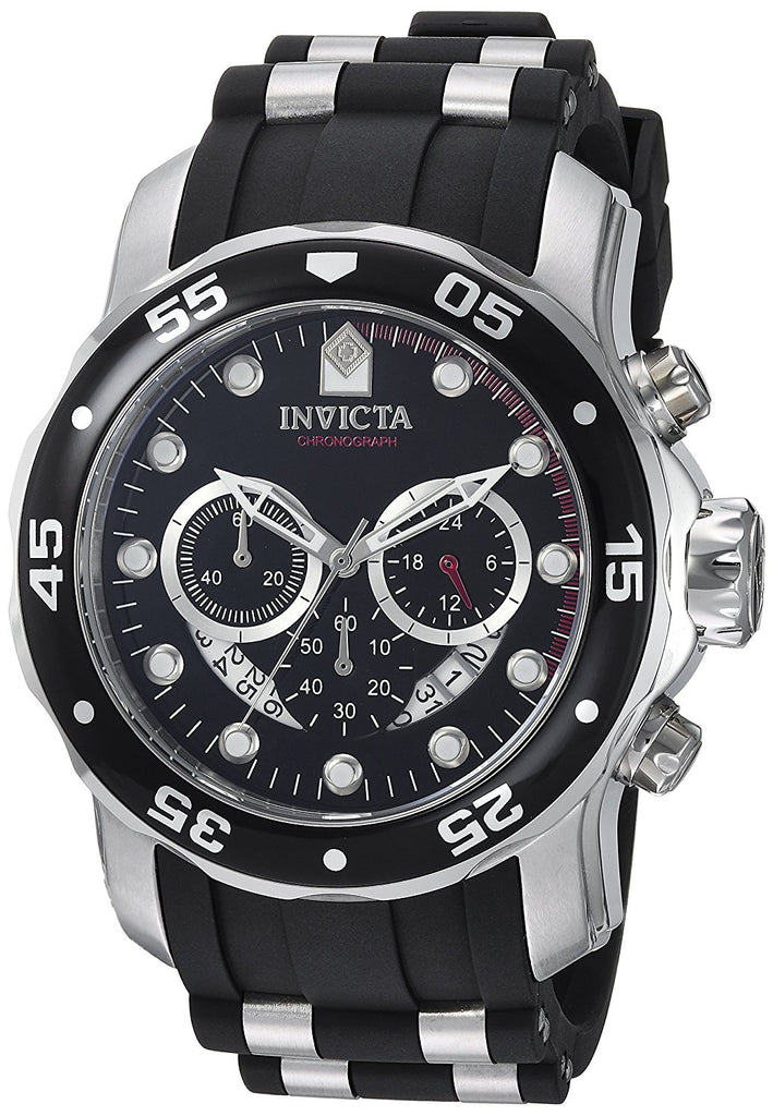 Invicta Diver Collection Chronograph  Polyurethane  Mens Watch