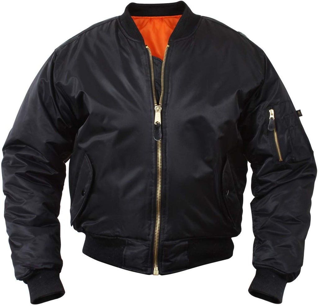 Rothco MA-1 Flight Jacket - Large - Black