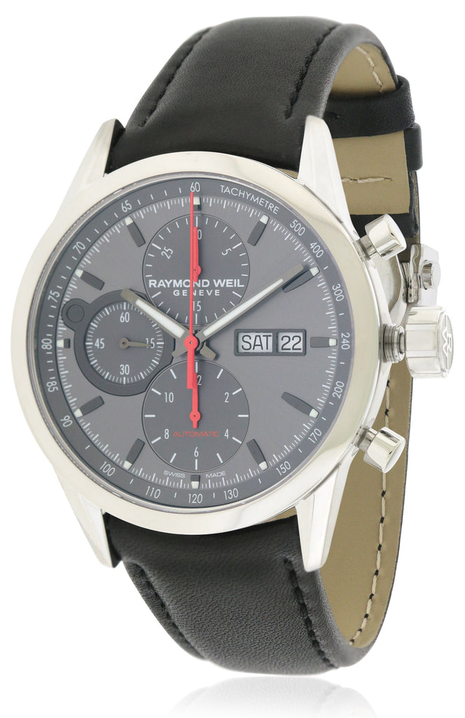 Raymond Weil Freelancer Chronograph Automatic Leather Mens Watch