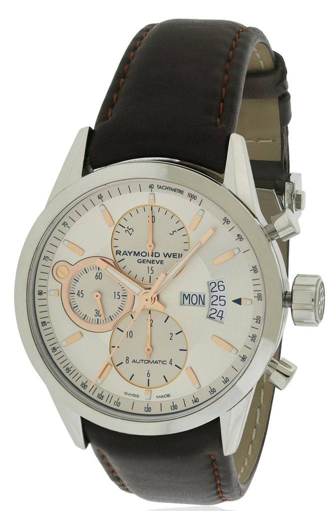 Raymond Weil Freelancer Leather Automatic Mens Watch
