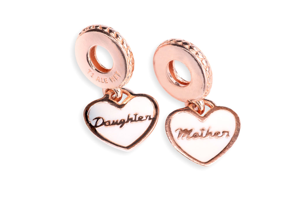 PANDORA Mother & Daughter Hearts Dangle Charm -