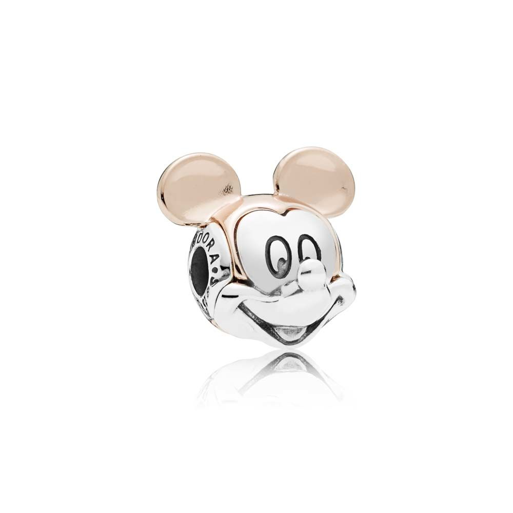 PANDORA Disney Two-tone Mickey Portrait Charm