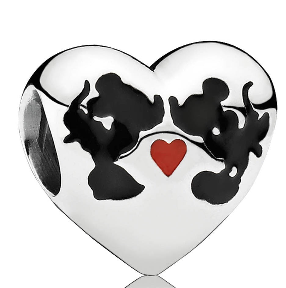 PANDORA Disney - Minnie & Mickey Kiss Charm - Mixed Enamel -