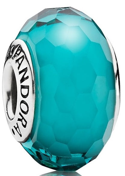 PANDORA Fascinating Teal Charm - Murano Glass -