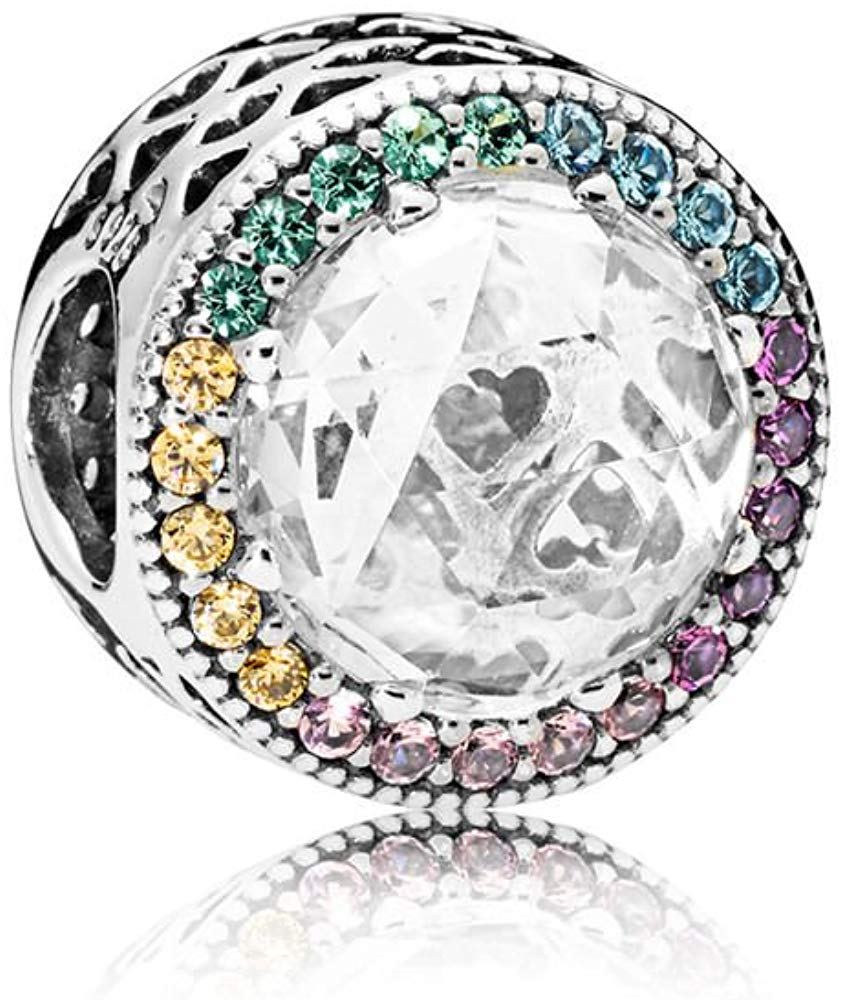 Pandora Multi-Color Radiant Hearts Charm -