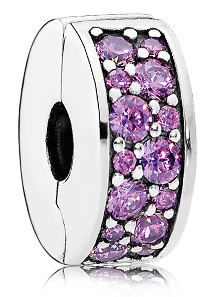 Pandora Fancy Purple Shining Elegance Spacer Clip Charm -