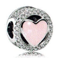 Pandora Pink Wonderful Love Charm -