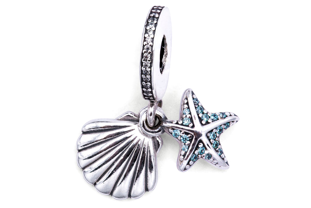 Pandora Tropical Starfish & Sea Shell Pendant Charm -