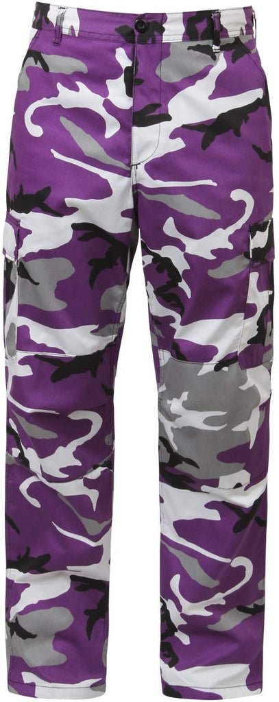 Rothco Camo Tactical BDU Pants - Small - Ultra Violet Camo