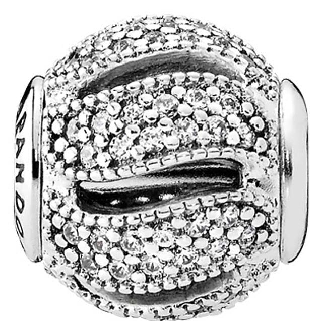 PANDORA LOYALTY Charm - Clear CZ -