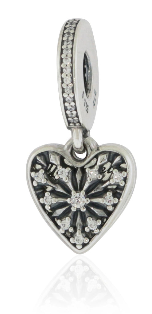 Pandora Silver Heart of Winter Dangle CZ Bead -